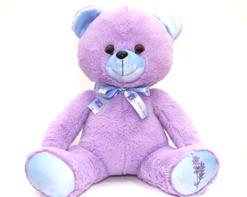 LAVENDER PATCH TEDDY BEAR - BOY image