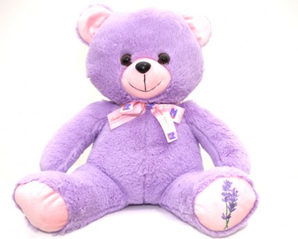 LAVENDER PATCH TEDDY BEAR - GIRL image