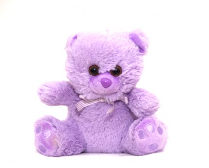LAVENDER TEDDY BEAR - SMALL image